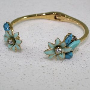 Kate Spade Turquoise Floral Cuff Bracelet